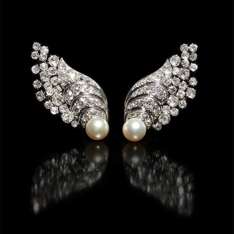 Pat-Saling---diamond-pearl-earrings